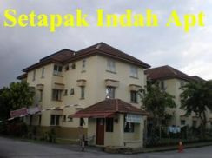 Setapak indah apartment ,setapak near uptown for sale