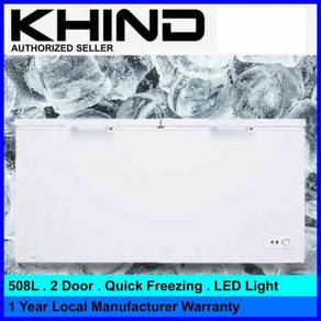 Khind 508L 2 Door Chest Freezer FZ508 ~New arrival