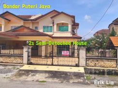 [ Bandar Puteri Jaya ] 2s Semi-Detached House MUST BUY Unit