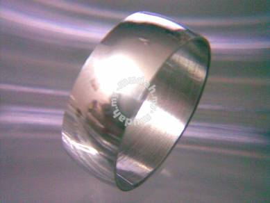 ABRSS-P001 Silver Plain Simple Style Ring Size 11