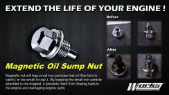 Works Magnetic Oil Sump Nut