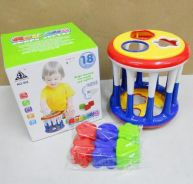 Rolling shapes sorter toy for baby