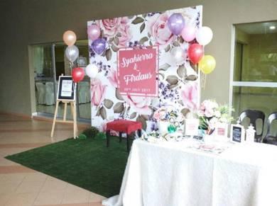 Photobooth Backdrop Perkahwinan Eksklusif Terkini