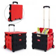 Multi Use Pack And Roll Foldable shopping cart