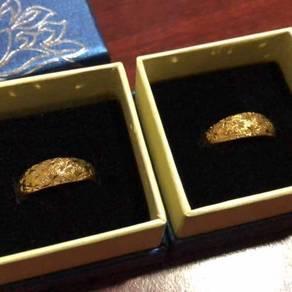 Emas Korea / 24k Gold Plated couple rings