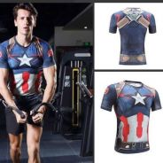 Captain America Compression MMA rash guard
