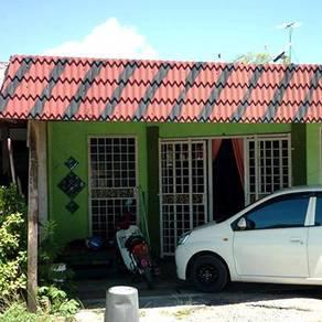 Paka, Dungun, Single storey low cost terraced house