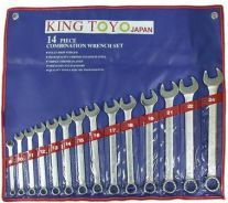 King Toyo 14pcs Combination Wrench Set 8-24mm