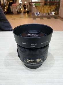 Nikon af-s 35mm f1.8g dx lens (99.99% new)