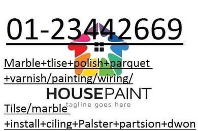 Parquet varnis + Marble Polish + Tile Install