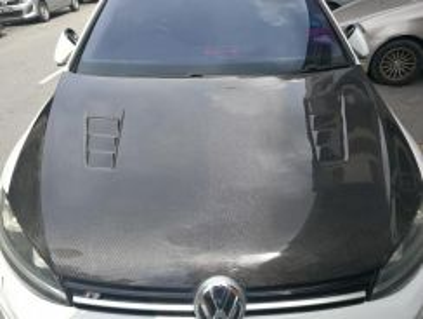 Volkswagen golf mk7 carbon hood bonnet cf bodykit