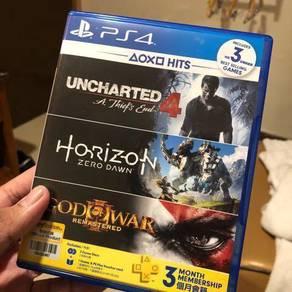 PS4 Uncharted 4 & Horizon Zero Down