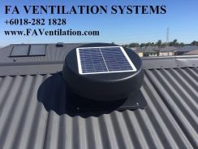 MKJ14G FA Solar Powered Attic Fan / Vent * Germany