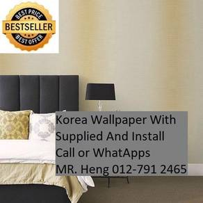 PVC Vinyl Wall paper with Expert Install fgjg8578