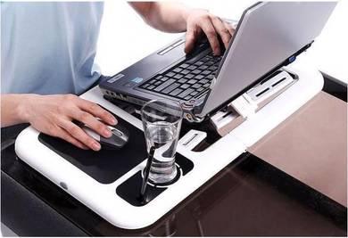 E-Table Meja Lipat Laptop Notebook w Kipas USB