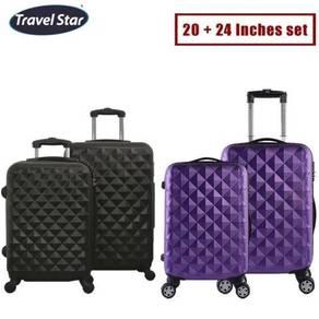 4 wheels luggage trolley bag 10
