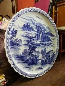 Antique huge ceremic plate