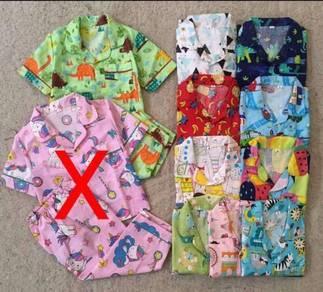 Baju tidur budak murah, size 2y-5y
