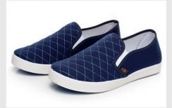 0248 Simple Blue Slip On Loafers Men Casual Shoes