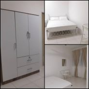 Medium Bedroom with Queen Bed set Near LRT Bukit Jalil Fully Furnished
