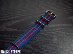 Mid-Two Navy Red NATO Strap