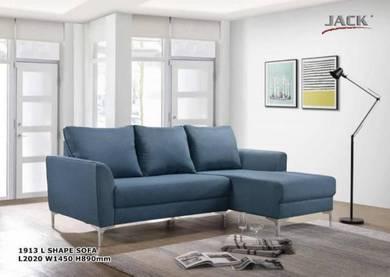 2 seater L shape fabric sofa (1913) 24/7
