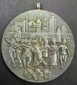Pewter medal greeting malaysia