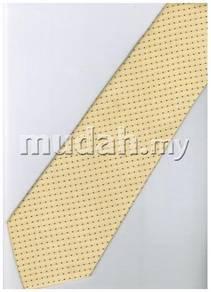 EY2 Yellow Black White Striped Formal Neck Tie