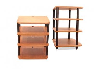 Pro Av 4 Tier Wooden Hi Fi Rack