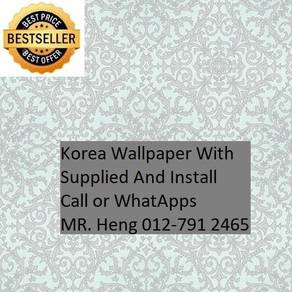 PVC Vinyl Wall paper with Expert Install fhf58758