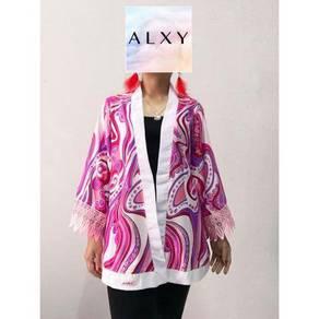Kimono Cardigan -PUCCI (Pink)