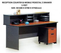 Reception Counter 5 feet Table & Drawer