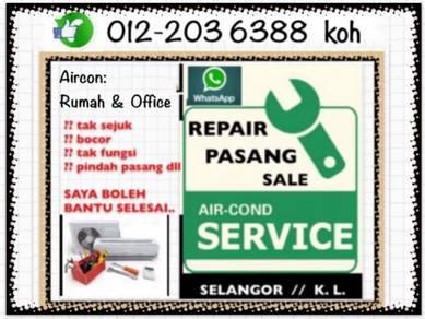 Servicing Aircond PRO Air con SEL/KL Air cond