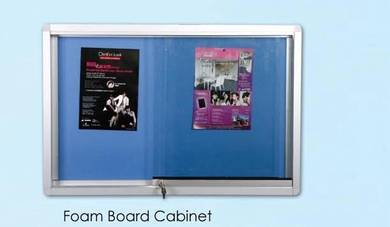 4'x8' Notice Board Cabinet with Sliding Glass