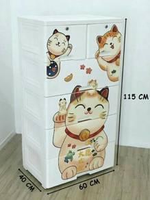 Cat cartoon drawer cabinet