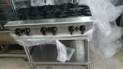 6 open burner with steel stand
