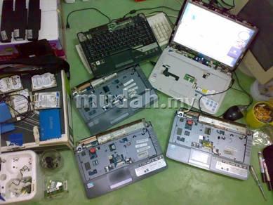 Laptop Rosak atau semi rosak Plentong