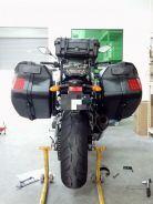 Sidebox pannier box Yamaha MT09 XJ6 muat helmet