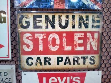Tin sign besi Garage