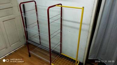 Basket Tray Clothes Stand