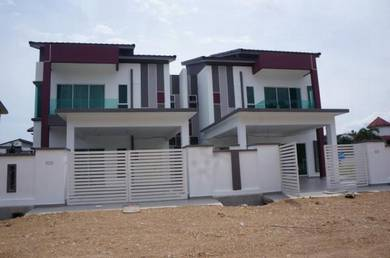 Luxury double storey semi-d house in mentakab town