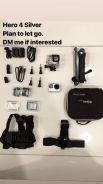 GoPro Hero 4 Silver and accessories