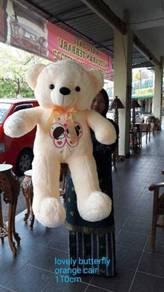 Baru teddy bear 1.1meterrr purple