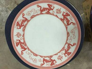 EEQ Antik pinggan naga merah dragon plate pml