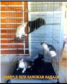 Sangkar Kucing 3 Tingkat untuk 3 atau 4 dewasa ku