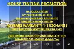 House and car tinting services high uvr & irr
