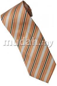 EO1 Orange White Yellow Black Striped Neck Tie