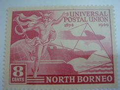 1949 British North Borneo Early Issue Unused 8c