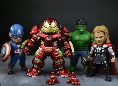 Avengers Captain America Hulkbuster Hulk Thor 4pcs