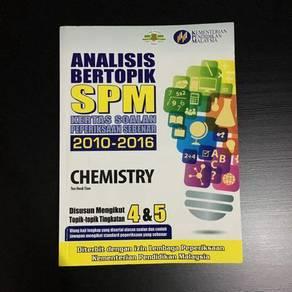 SPM Chemistry Past Years 2010-16 Analisis Bertopik